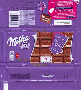 Milka 100g Plastic Wrapper Schokoladenpapier Mondelez Slovenian Ed Coisas De Barbie Barbie Bonecas