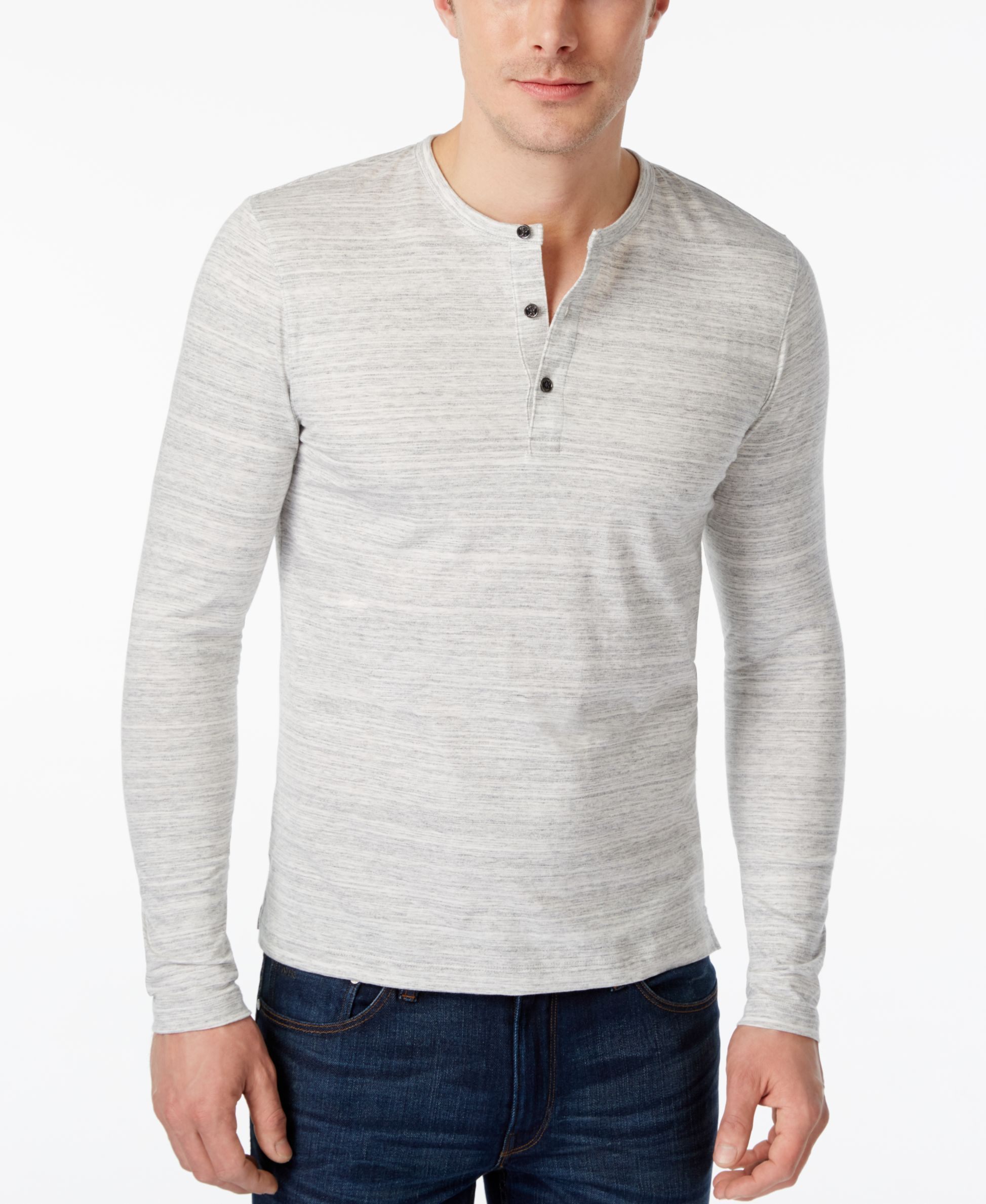 Michael Kors Men's Space Dyed Long-Sleeve Henley