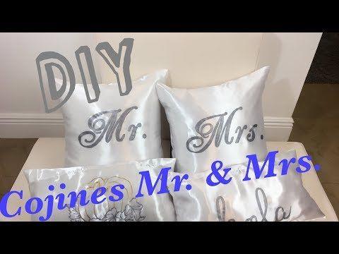 COMO HACER FUNDAS PARA COJINES MR. & MRS. | DIY PILLOWS   YouTube