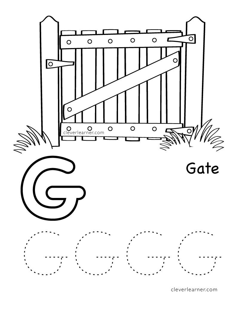 G Stands For Gate Letter G Worksheets Tracing Worksheets Preschool Preschool Worksheets [ 1035 x 800 Pixel ]