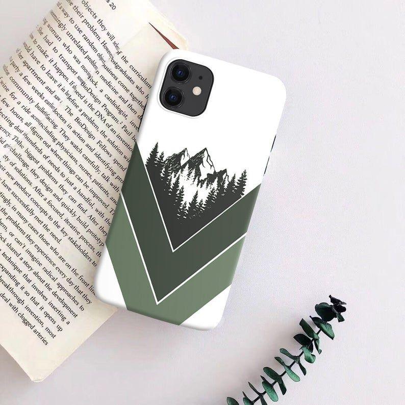 Green mountains case smartphone unique case cute mobile