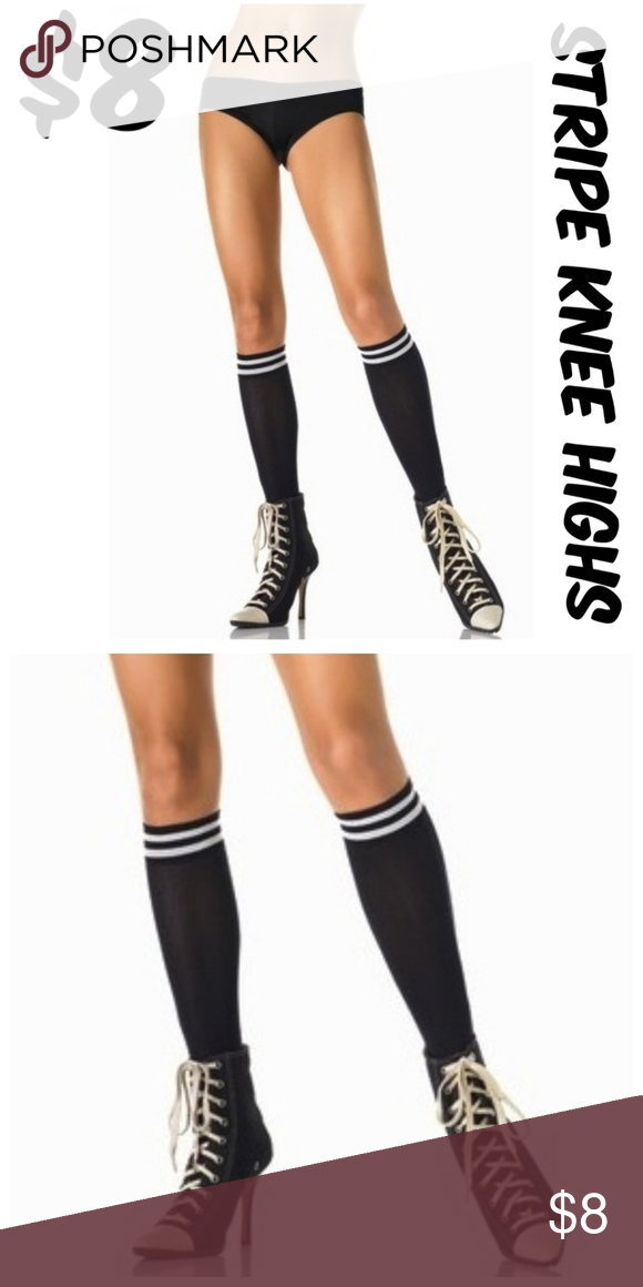 5bcc6b35334 ⚡ 5 Stripe Knee Highs Socks Roller Derby ⚡ALL OFFERS OVER  5 ACCEPTED⚡  Stripe Knee Highs Roller Derby Nylon  5205 Accessories Hosiery   Socks
