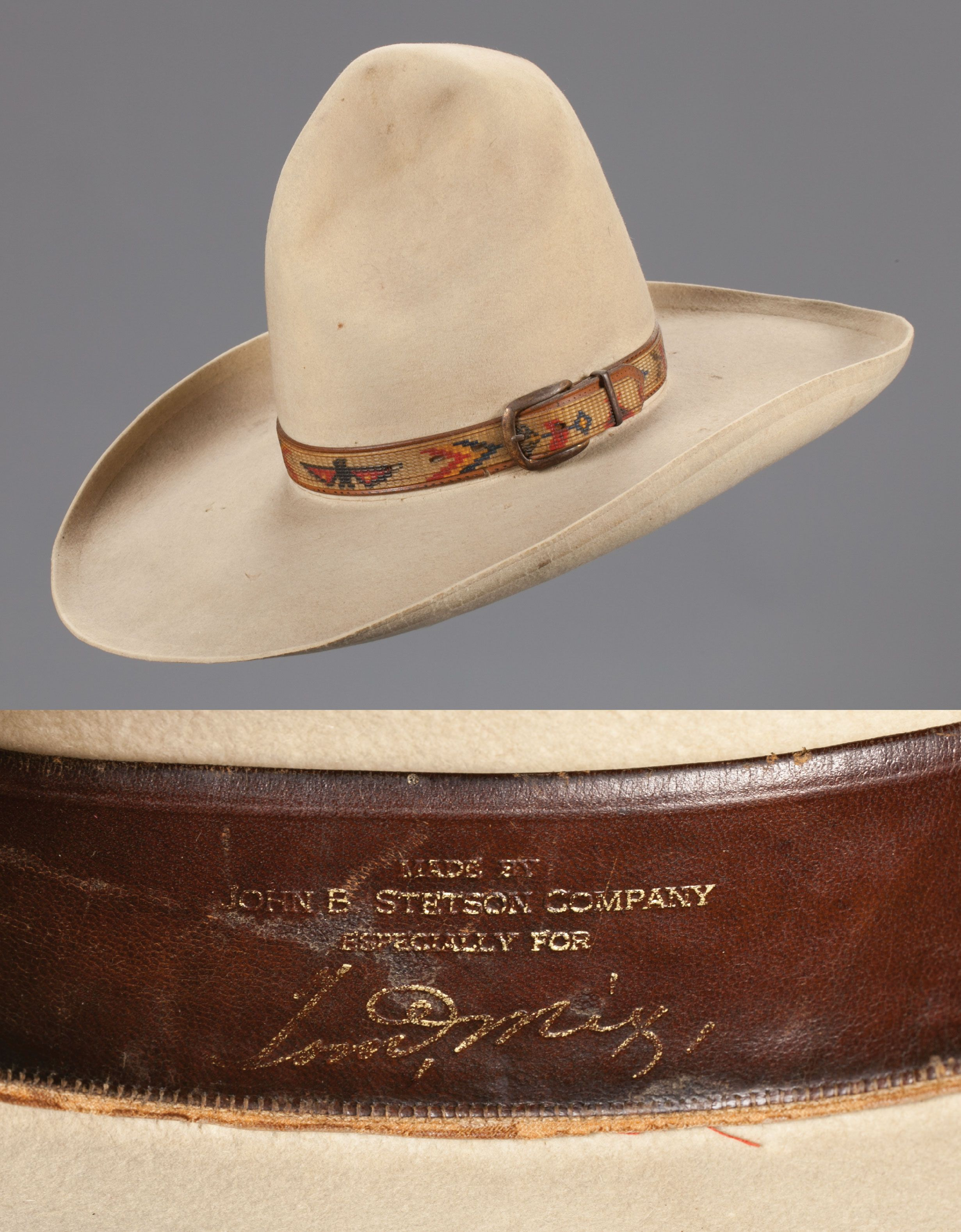 f3d19d2ced3 Tom Mix s Personal Stetson Hat One of Tom s more famous hats