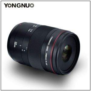 New Yongnuo lens announced the YN60mm f2 Macro  Yongnuo has a new lens the Yongnuo YN60mm f2 Macro. Yongnio products are available on Amazon. Press release: YONGNUO Macro LensYN60mm F2 MF 0.234m macro mode the magnification ratio is up to 1:1 The nearest focus distance can reach about