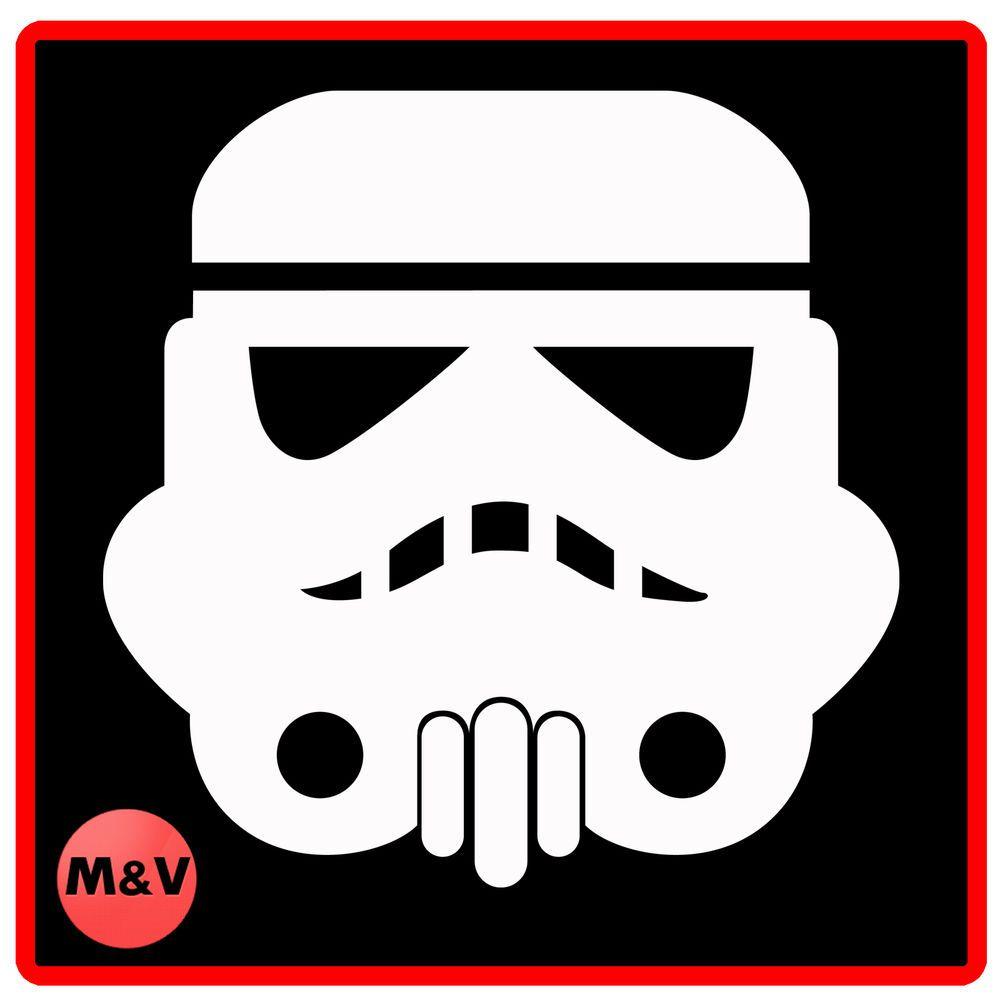 Details About Star Wars Storm Trooper Helmet Stickers X2