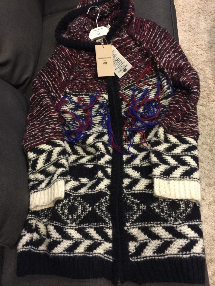 Isabel Marant Pour H M Hooded Cardigan Sweater US Size Small s EUR 36 UK 10 Tags | eBay