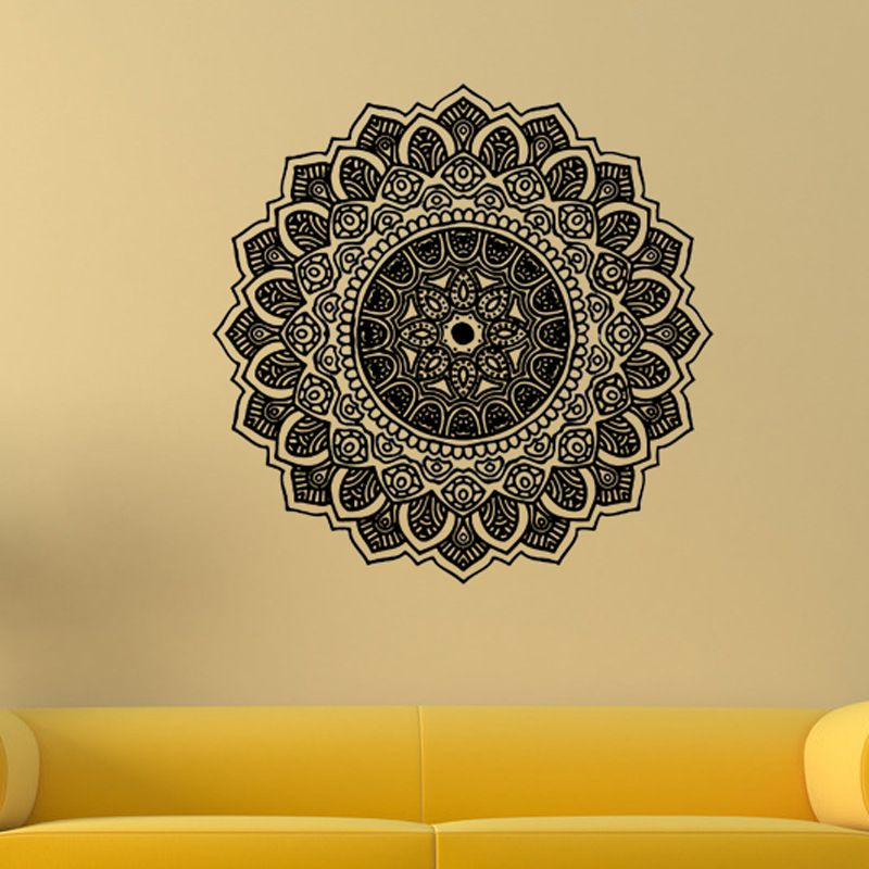 India Ganesh Flower Yoga Mandala Decorative Wall Sticker Stickers ...