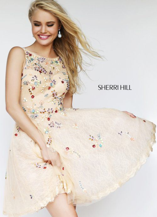 Cute and playful! Beautiful short peach prom dress 2014 with ...