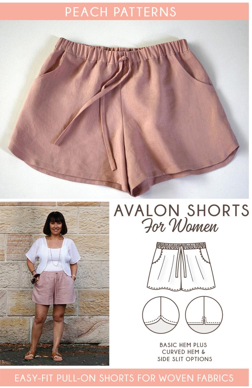 Avalon Shorts PDF Sewing Pattern for Women | Diy kleidung ...