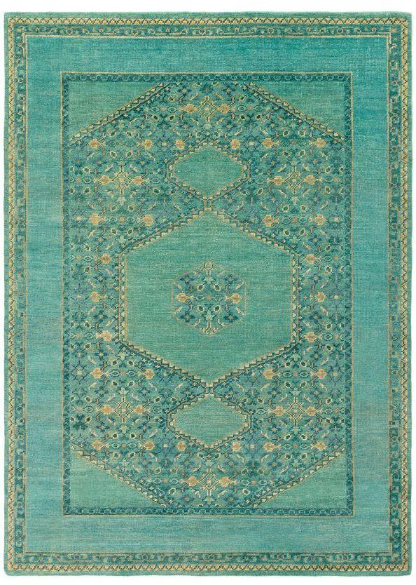 Surya Haven Area Rug 9 X 13 Blue Green Jade Green