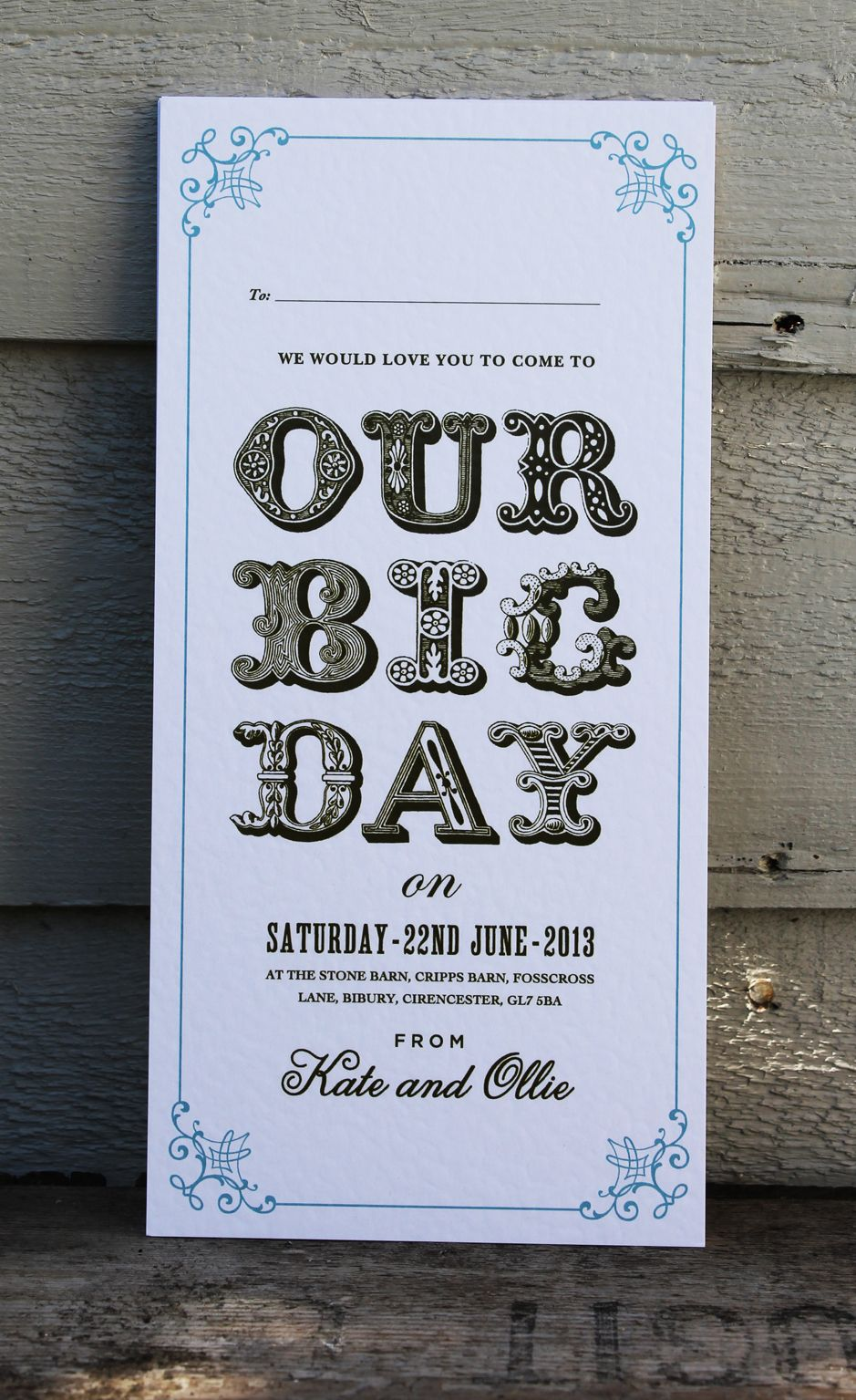 our big day wedding invitation by theinviteguy co uk wedding