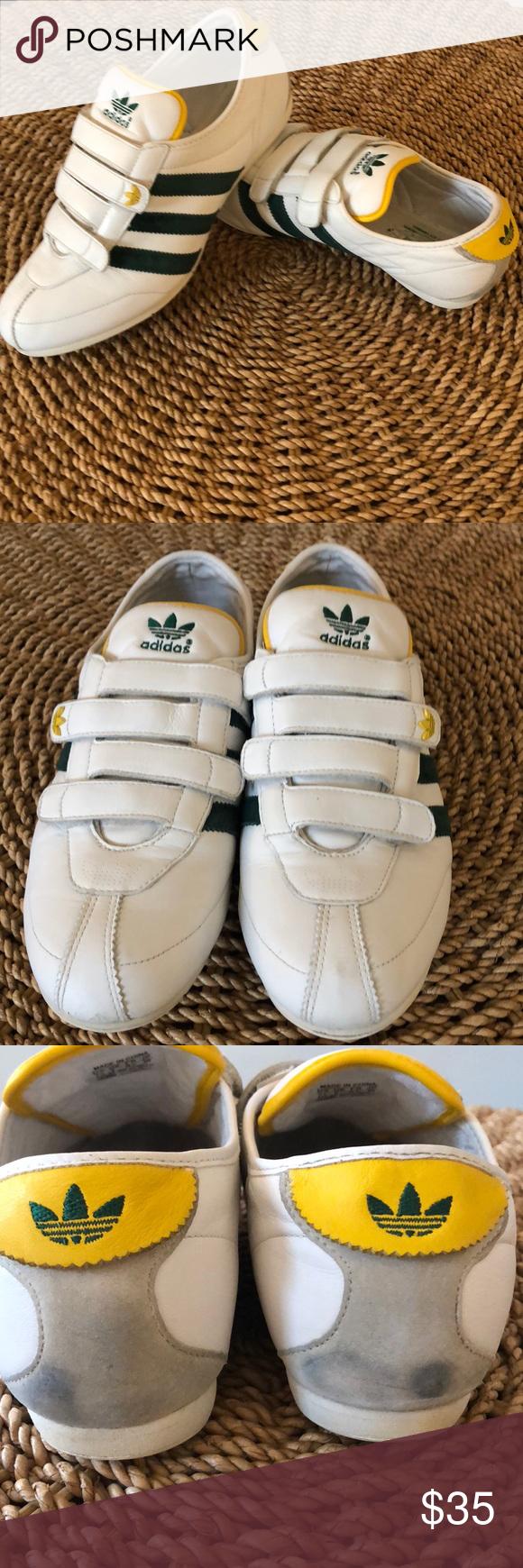 Mujer joven Sermón Residente  Adidas • Okapi 2 Leather Running Shoes Velcro   Adidas women, Running  shoes, White sneaker