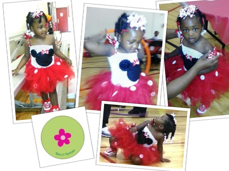 Minnie Mouse inspired tutu dress by Trinity's Treasures!