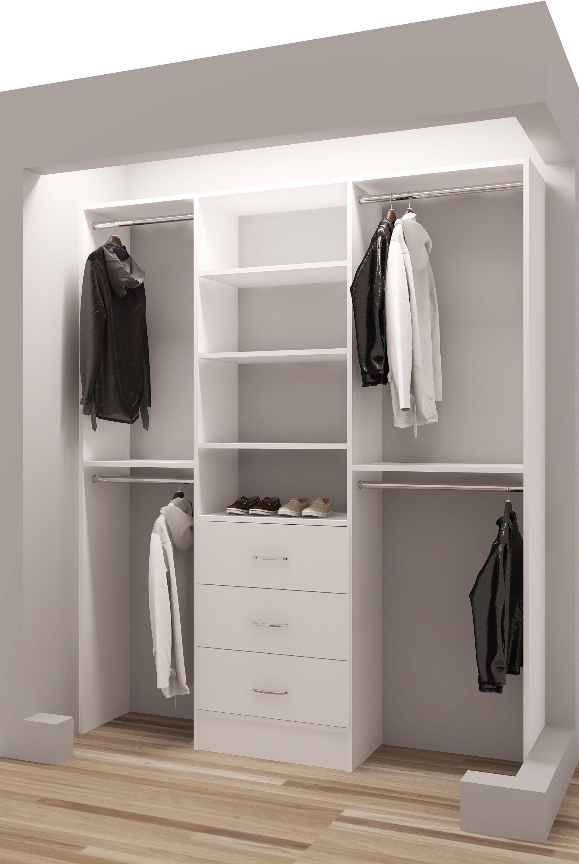 Tidysquares Com Classic White Wood 63 Closet Organizer Design 2
