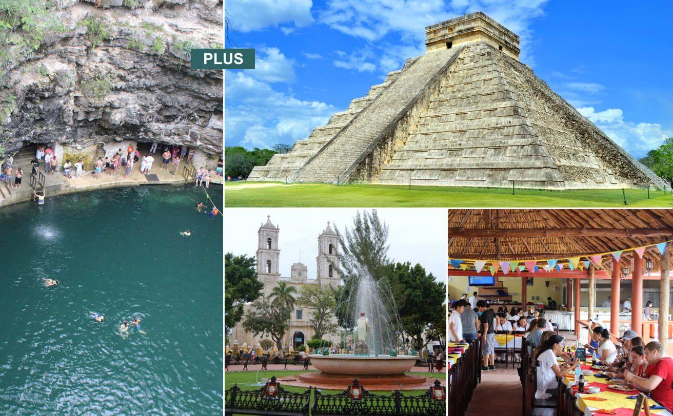 Chichen Itzá Desde La Riviera Maya Deluxe Y Cenote Maya Tour Chichen Itza Chichen Itza Viajes A Cancun