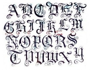 Gothic Alphabet To Print Letters Tag Graffiti Free Download