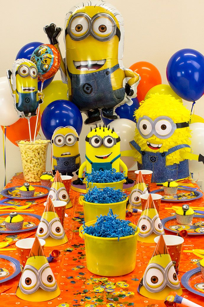 minion party ideen f r den kindergburtstag minion mottoparty pinterest minion party party. Black Bedroom Furniture Sets. Home Design Ideas