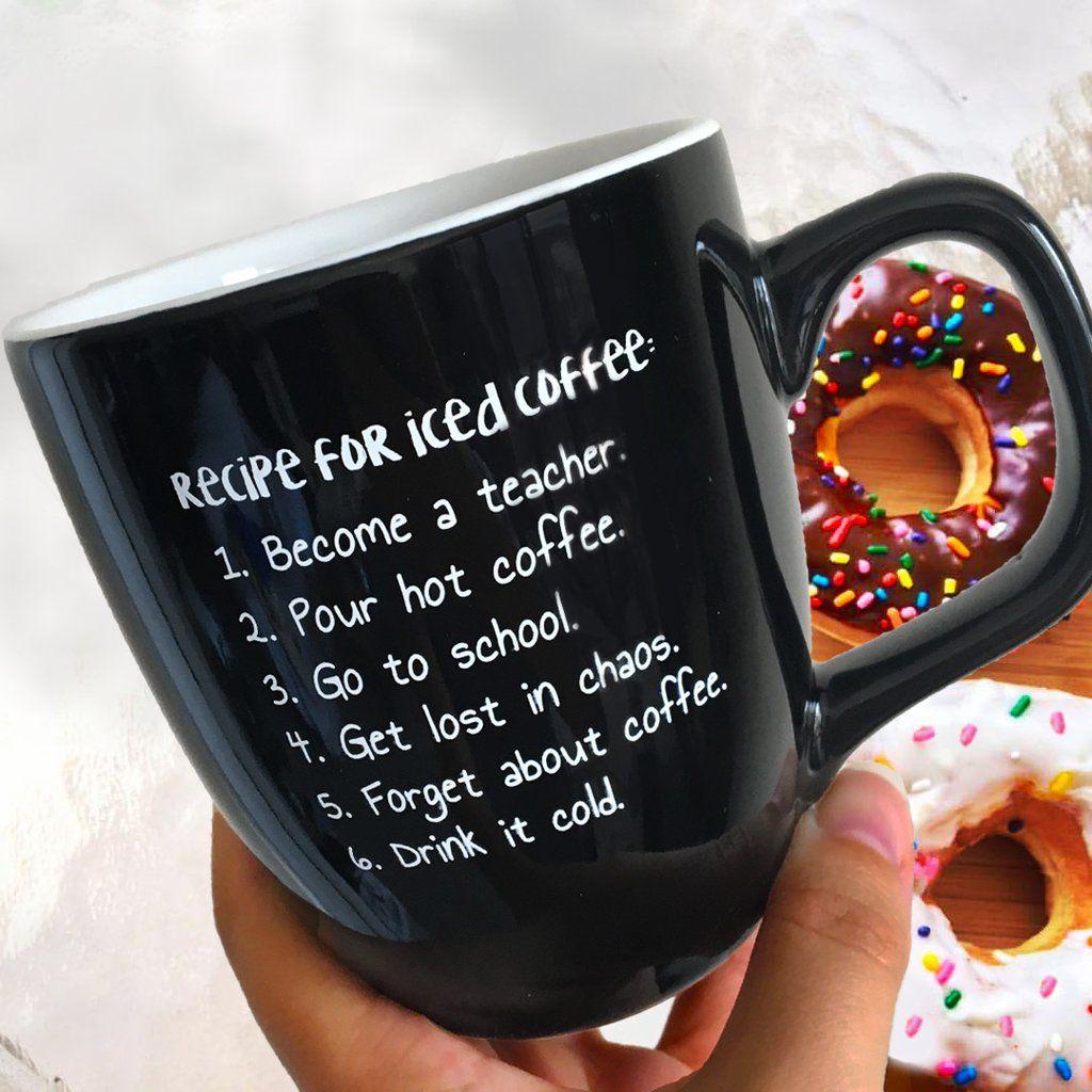 Teacher Iced Coffee Mug Bored Teachers Bored Teachers Teacher Problems Ice Coffee Recipe