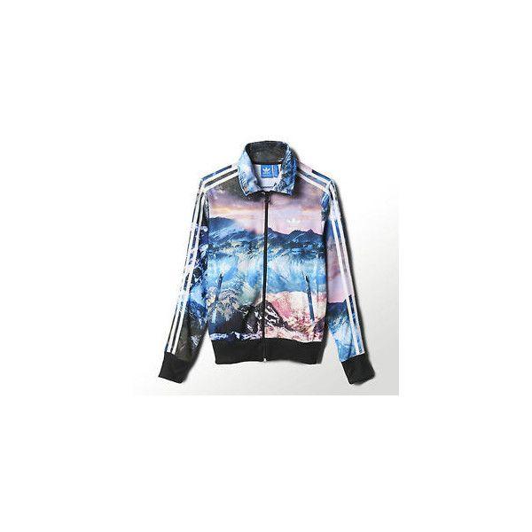 Adidas Originals Womens Mountain Clash Firebird Track Top Jacket XS s...  via Polyvore 3142e0fb20dd3