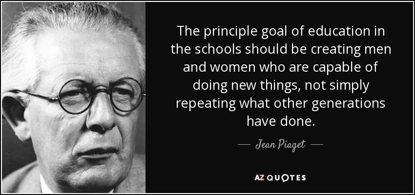 TOP 25 QUOTES BY JEAN PIAGET (of 73 Jean piaget, Rare