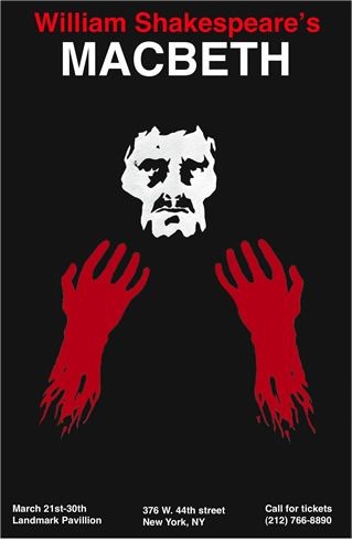 Macbeth poster by Emmanuel Polanco   DESIGN   Layouts   Pinterest ...