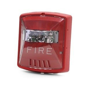 Wheelock Red Wall Mount Exceder Fire Strobe 2w 12 24v 8cd Str Red Walls Strobing Wall Mount