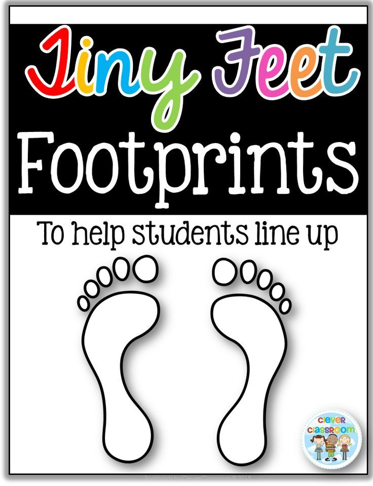 Classroom Line Up Ideas : Free feet footprint templates for lining up from clever