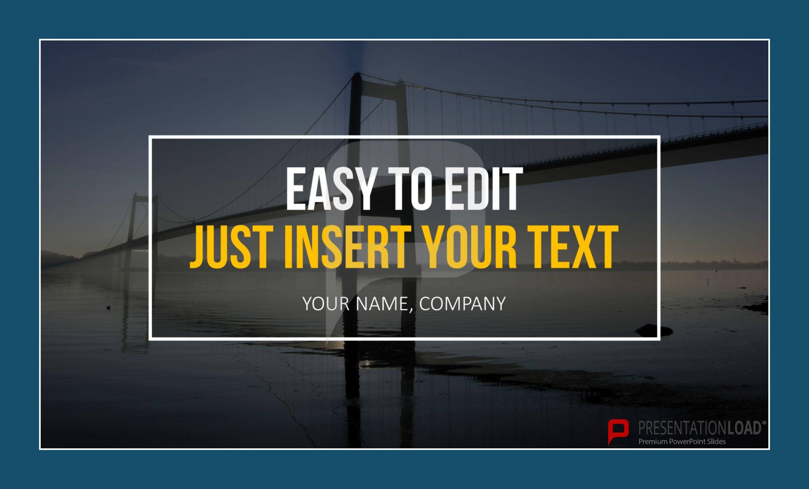 Titelfolien sind bestens geeignet um eine Präsentation zu starten. Sie können hier einfach ihr eigenes Bild sowie Ihren persönlichen Text einfügen und die Folien in Ihre Präsentation integrieren. http://www.presentationload.de/powerpoint-titelfolien.html