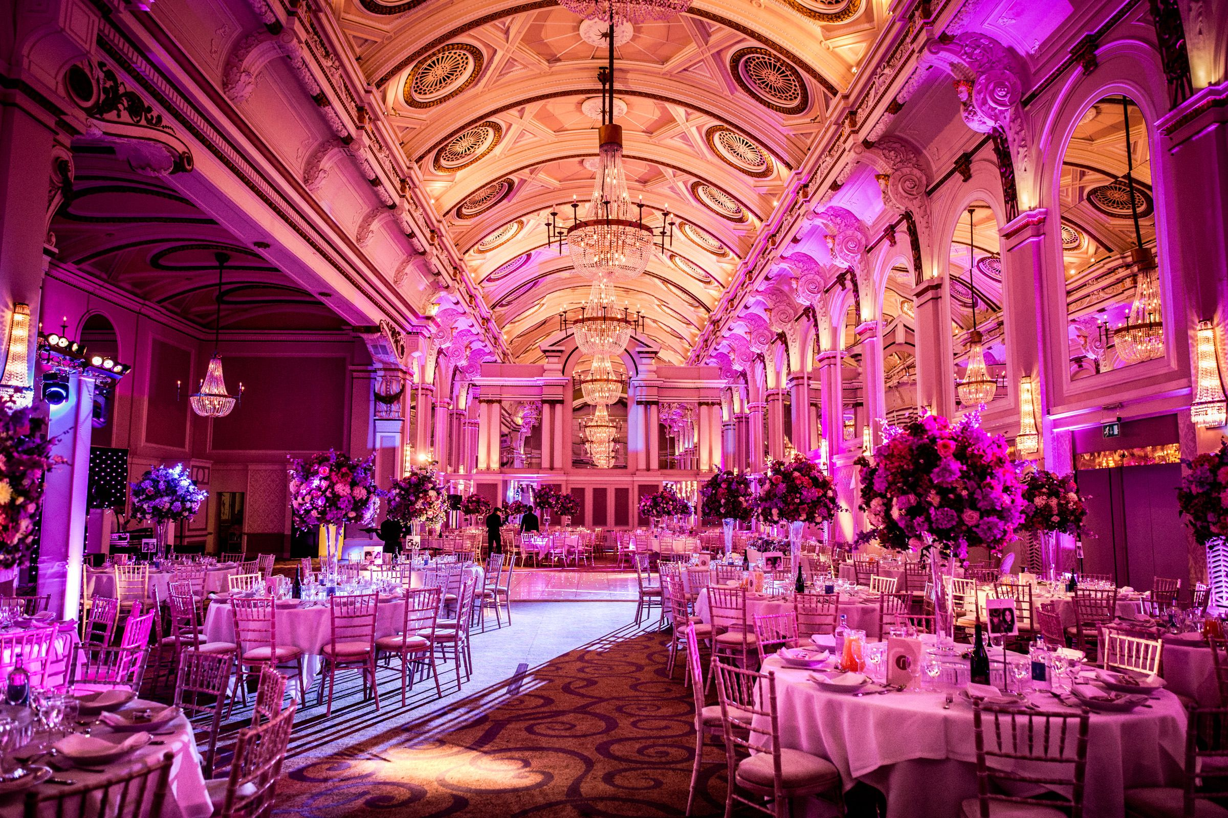 Asian Wedding Reception At Grand Connaught Rooms Main Function Room