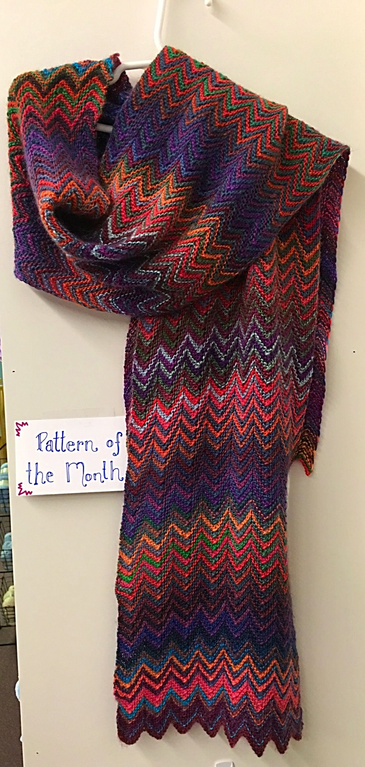 January Pattern of The Month.....ZickZack Scarf!!! What a fun knit ...