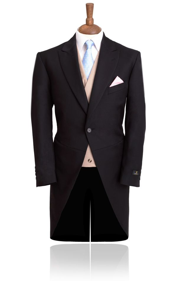 2013 New Complete Desiged 1 Button Morning suit Tailcoat Black 100 ...