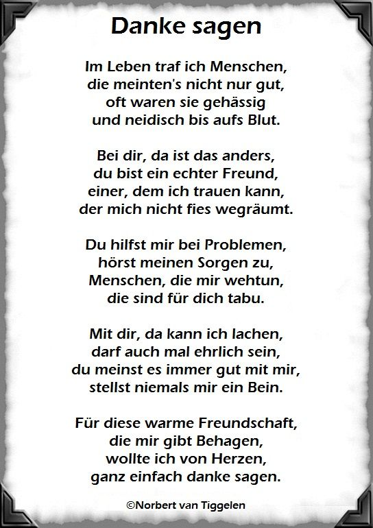 Danke Gedicht Freundschaft Sprüche Für Freunde 2019 09 24