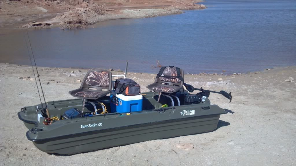 Two man pontoon boat fully loaded boat pinterest for Two man fishing boat