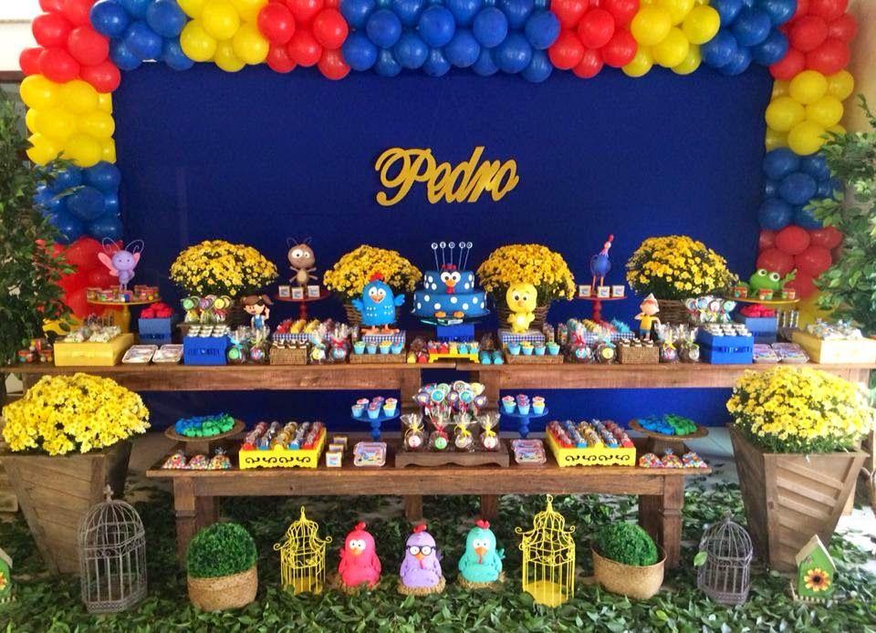 Laços& Caprichos Galinha Pintadinha Rustico festa galinha pintadinha Decoraç u00e3o festa  # Decoração De Festa Infantil Da Galinha Pintadinha Rosa