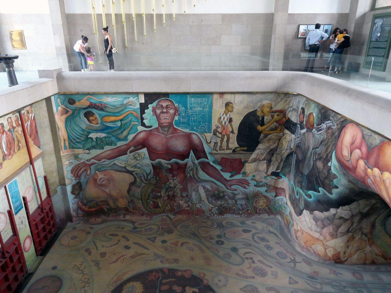 Clauvers Mural El Agua Origen De La Vida De Diego Rivera Carcamo De Dolores Bosque De Chapultepec Water Origin Of Creative Art Diego Rivera Painting