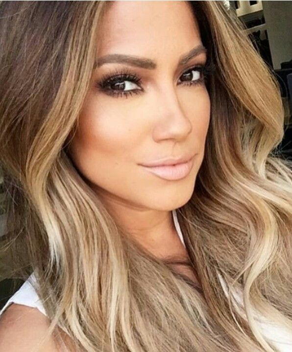 Image Result For Blonde Highlights On Brown Hair Front Olive