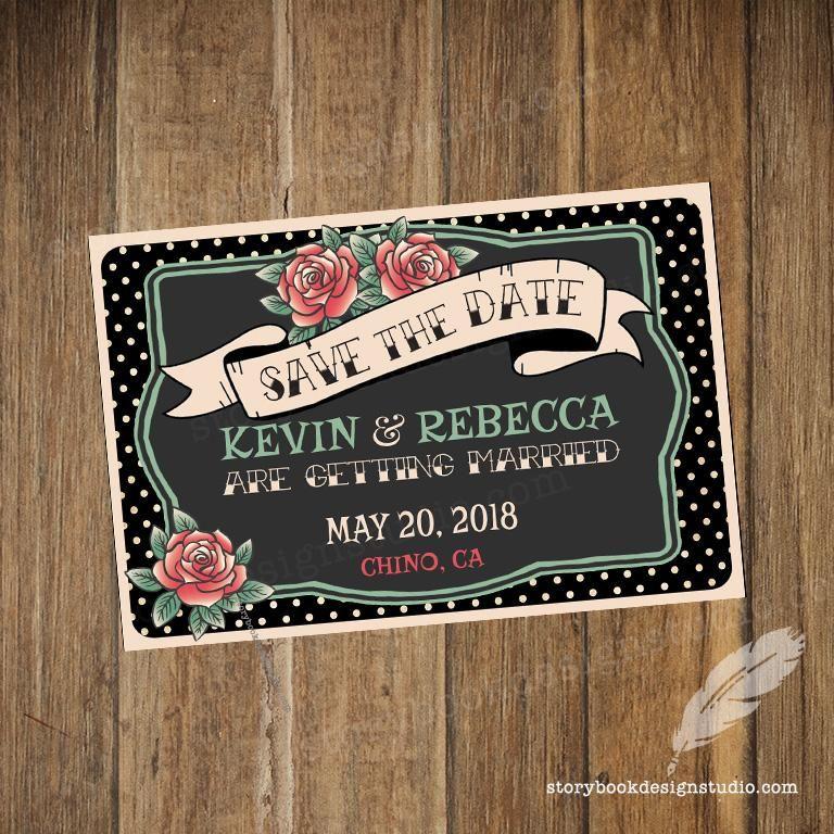 Rockabilly Wedding Ideas: Rockabilly Wedding Save The Date