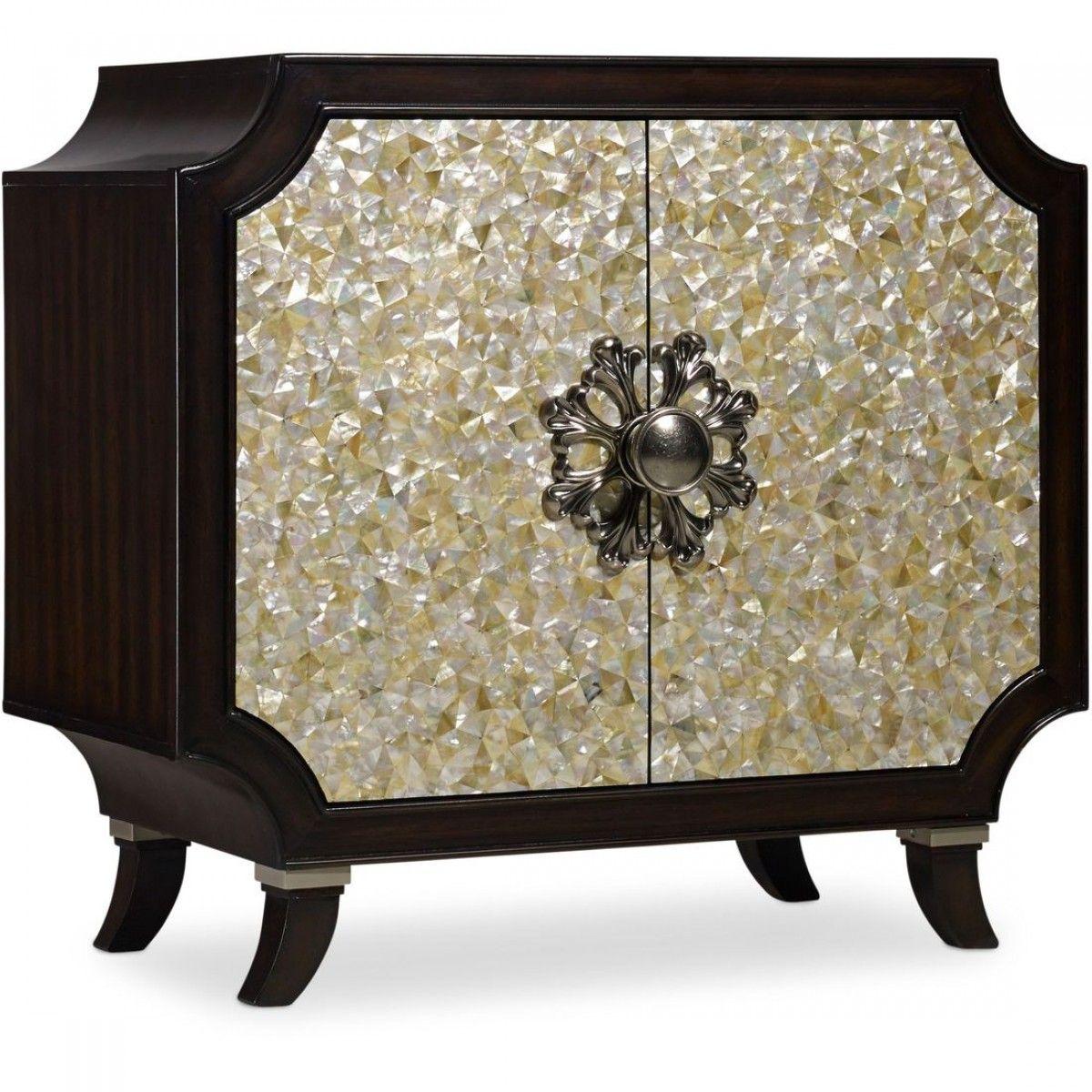 Hooker Furniture Melange Tavi Door Chest(Mother Of Pearl)