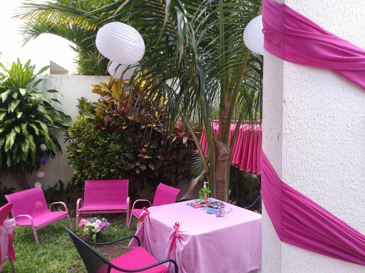 fiesta spa de nias decoracin ambiental