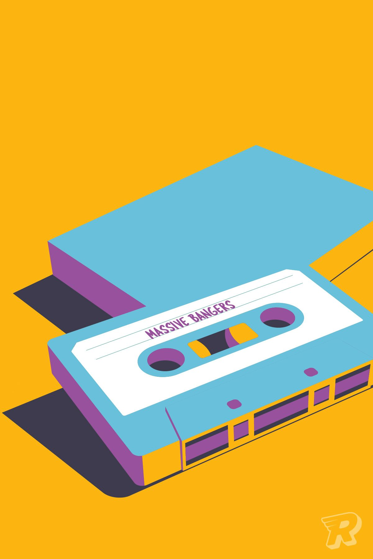 Personalised wall art / Create your own art / Custom retro mixtape ...