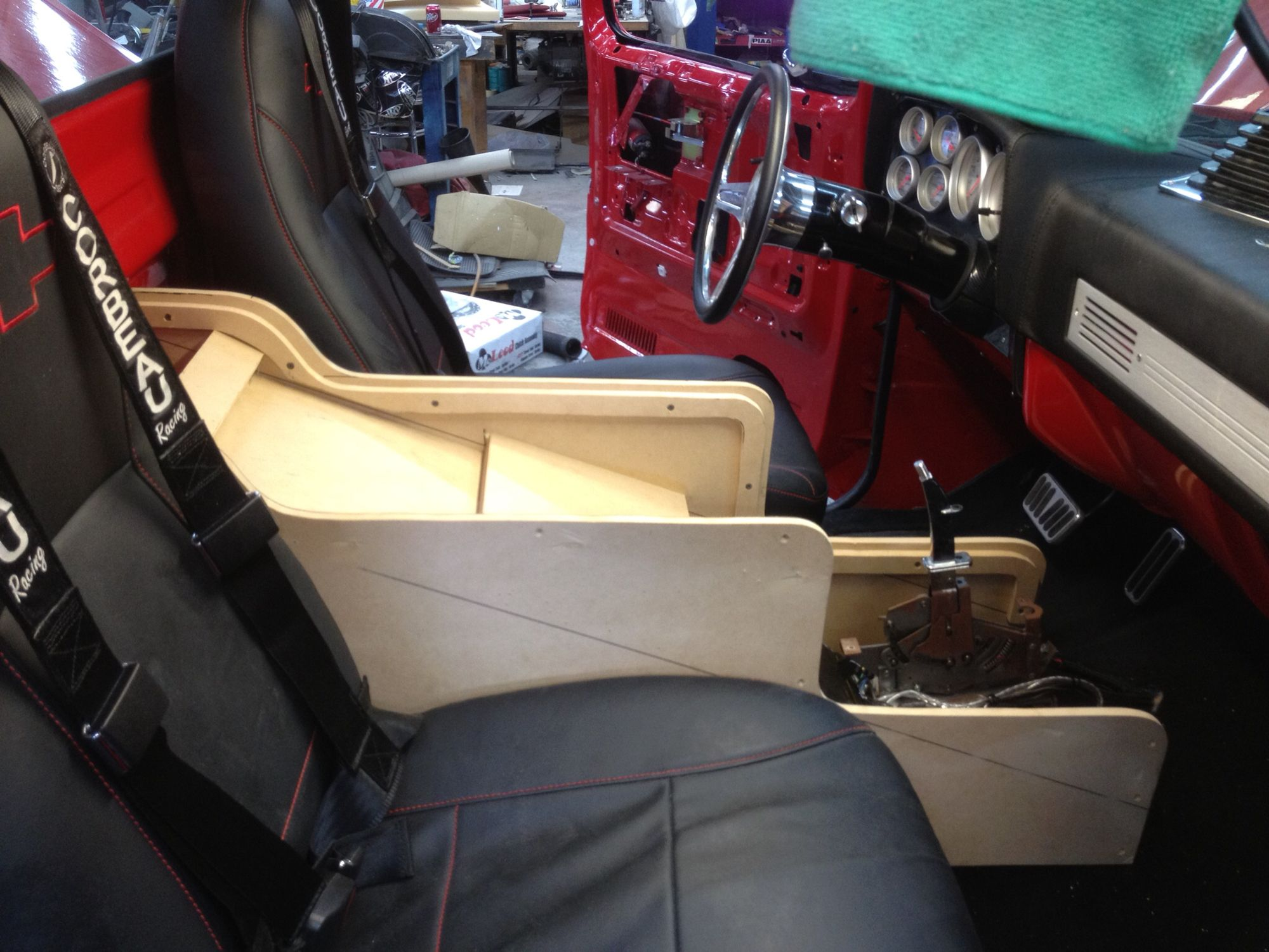 hight resolution of custom center console 87 chevy