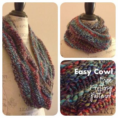Berroco Brio Easy Cowl Free Knitting Pattern Knit Patterns