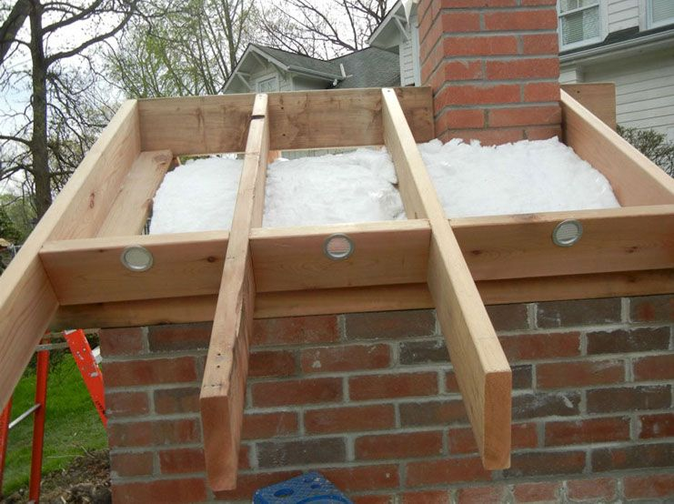 Building A Roof On The Creagioli Family Wood Fired Diy Brick Pizza