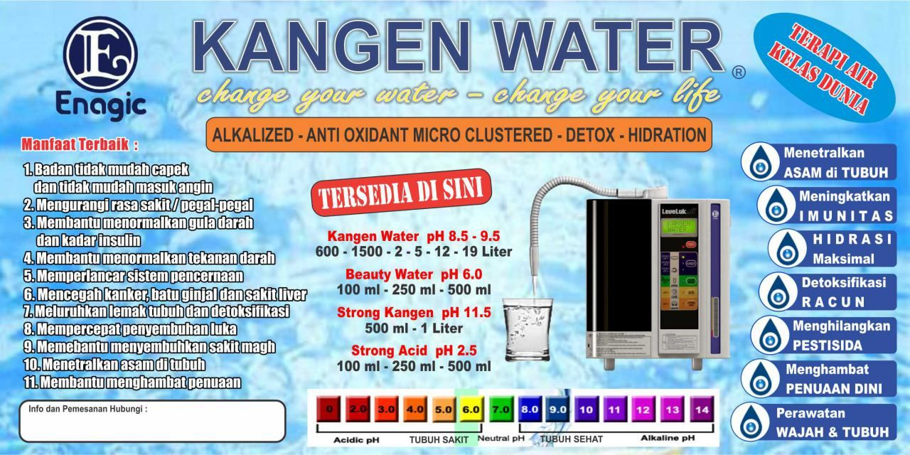 Spanduk Kangen Water 2mx1m Spanduk Tubuh