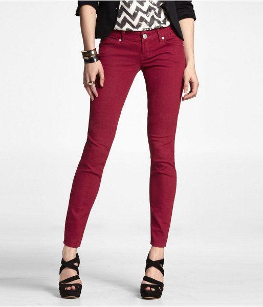 Zelda Jean Legging - RUBY RED 4 | Red Jeans | Pinterest | Red ...