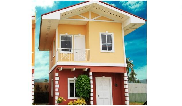 Low Cost Housing Garden Bloom Villas 2 Storey Single Detached House Plans Farmhouse House 2 Storey House Design