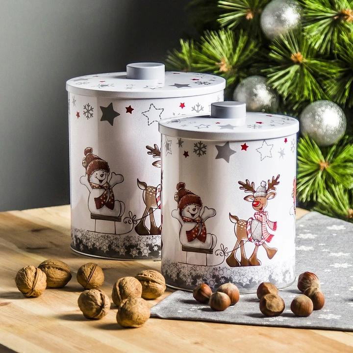 Puszki Swiateczne Pojemniki Na Ciastka Pierniki X2 8633012385 Oficjalne Archiwum Allegro Bear Carving Decorative Jars Chocolate Chip Brownies