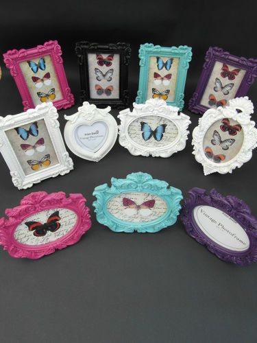 NEW VINTAGE STYLE CLASSIC SHAPED PHOTO FRAMES - RECTANGLE , OVAL | eBay £5.95