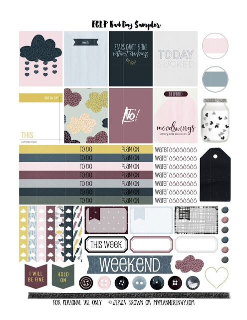 Bad Planner free planner sticker printable bad day sler for the vertical
