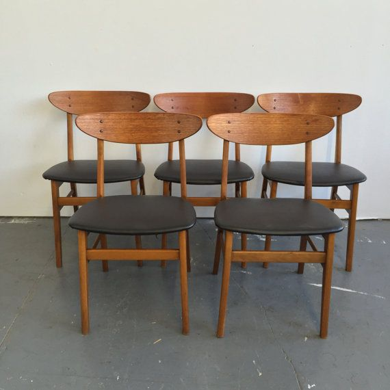 Set Of 5 Vintage Danish Modern Farstrup Dining Chairs   995 OBO   Free NYC  Delivery